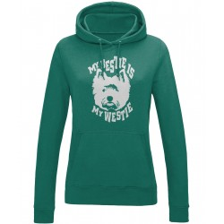 Bestie is My Westie Hoodie Ladies
