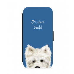 Personalised Westie Nose Phone Case Blue