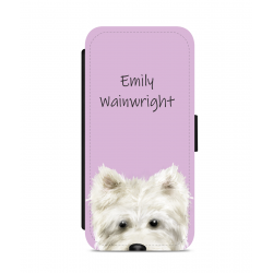 Personalised Westie Nose Phone Case Pink