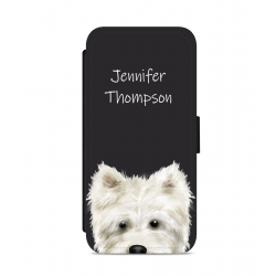 Personalised Westie Nose Phone Case Black