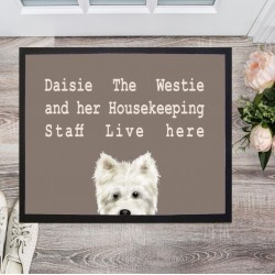 Westie and Housekeeping Staff Doormat