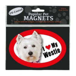 I Love My Westie Fridge Magnet - West Highland White Terrier