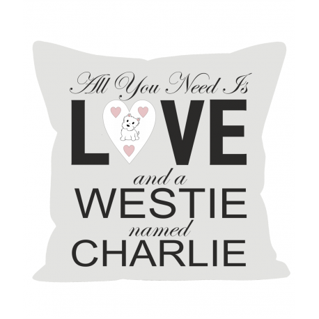 Move the Westie Cushion Personalised