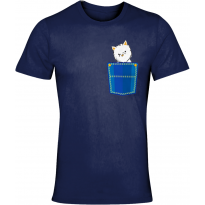Westie Denim Pocket T-Shirt Unisex