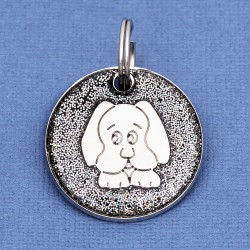 Black Glitter Dog Id Tag