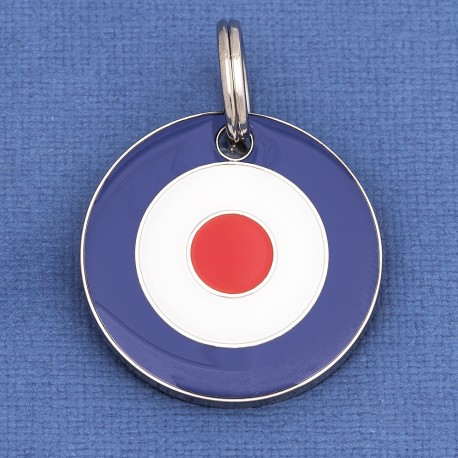 White We Are The Mods Target Circle Red Silver And Blue Enamel Pin Badge