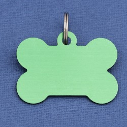Green Large Bone Dog ID Tag