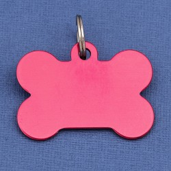 Red Large Bone Dog ID Tag
