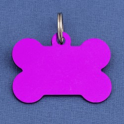 Purple Large Bone Dog ID Tag
