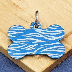 Blue Bone Dog ID Tag Tiger Stripe