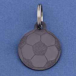 Football Dog ID Tag Black