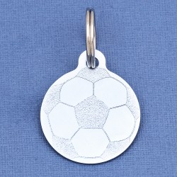 Football Dog ID Tag Sky Blue