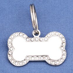 Bling Bone Dog ID Tag