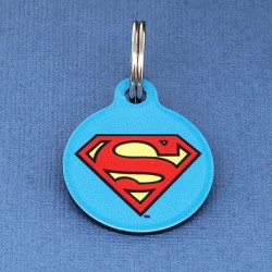 Superman Dog ID Tag