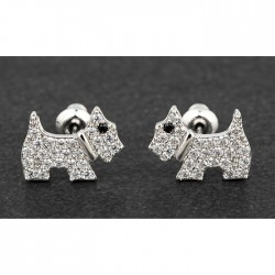 Westie Dog Stud Earrings