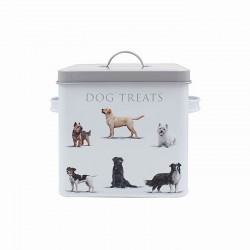 Dog Breeds Metal Treat Box