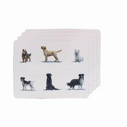 Dog Breeds Placemats - Pack of 4