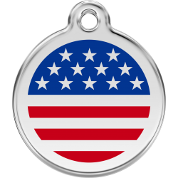America Flag Dog ID Tag