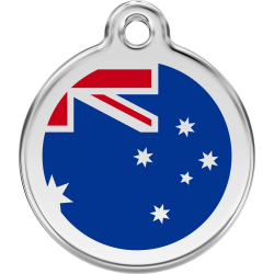 Australia Flag Dog ID Tag