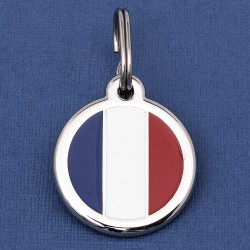 France Flag Dog ID Tag