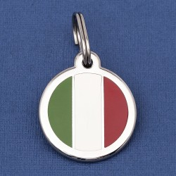 Italy Flag Dog ID Tag