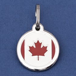 Canada Flag Dog ID Tag