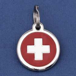 Switzerland Flag Dog ID Tag