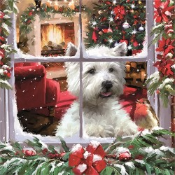 Westie Christmas Jigsaw- West Highland White Terrier