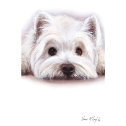 Watercolour Westie Greetings Card - West Highland White Terrier