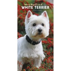 2020 West Highland White Terriers Slim Diary