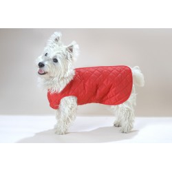 Step-in Quilted Coat Red
