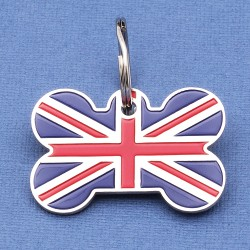 UK Flag Pet ID Tag
