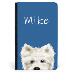Westie Ipad Case Personalised Blue