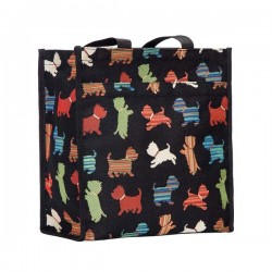 Playful Westie Tapestry Shopper Bag