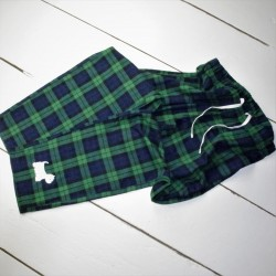Westie Pyjamas Bottoms Green Check
