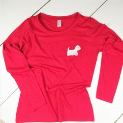 Westie Long Sleeve T-Shirt Embroidered