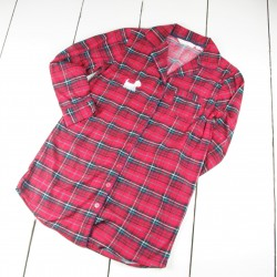 Westie Embroidered Nightshirt Red