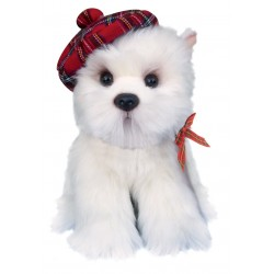 Hamish West Highland White Terrier Toy with Bonnet