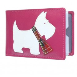 Westie ID Pass Credit Card Holder Pink