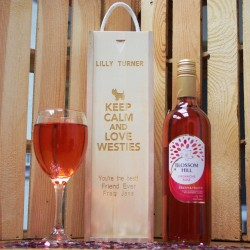 Keep Calm and Love Westies Wine Box