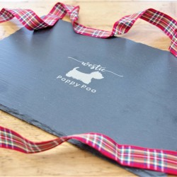 Personalised Name Westie Slate Placemat