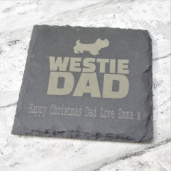 Dad  Personalised Slate Coaster