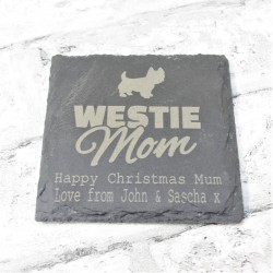 Mom Personalised Slate Coaster