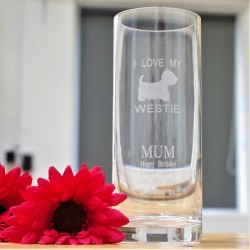 I Love My Westie Vase Personalised