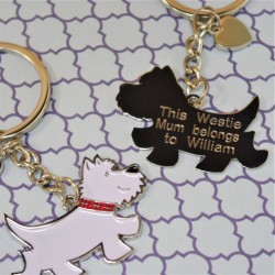 Charlie The Westie Personalised Keyring
