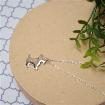 Sterling Silver Westie Dog Necklace
