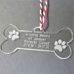 Personalised Memorial Dog Bone