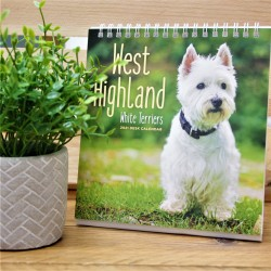 2021 West Highland White Terrier Desk Flip Calendar