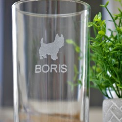 Westie Name Hi-Ball Glass Personalised