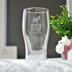 Westie Dad Pint Glass Personalised